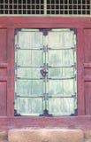 Ancient door. Ancient wooden doors in Seoul, Korea Stock Photography