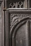 Ancient door. At Cambridge University Royalty Free Stock Photos