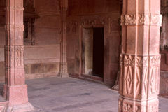 Ancient door. This picture has been taken in city of Agra at Fatehpur Sikri. This construction has been done by Mogul Emperor Akbar in 1600 century Stock Photography