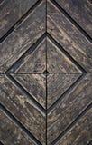 Ancient door. Very old wooden door panels Royalty Free Stock Images