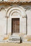 Ancient door. The ancient door of a medieval church (Santa Maria della Strada, molise,center Italy royalty free stock photography
