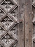 Ancient Door. A background with view of design on an ancient wooden door Stock Photography