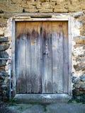 Ancient door. A very old door at the village of Kakopetria, Cyprus Stock Photo