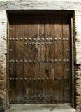 Ancient door. In the albayzin granada andalucia in the night Stock Photo
