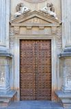 Ancient door in the Alhambra Palace in Spain stock photography