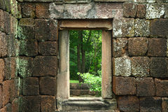 Ancient door in the ancient castle religious buildings construct Royalty Free Stock Photography