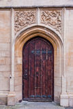 Ancient Door in Bath Stock Image
