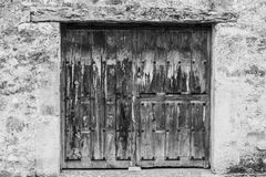 Ancient door. Big, old and wooden door Royalty Free Stock Photography