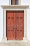 Ancient door with classical ornament. Stock Image