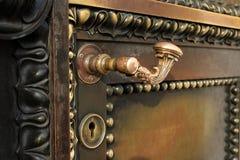 Ancient  door closes Stock Photo