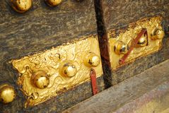 The ancient door decoration. Asia Beijing Lama Temple in ancient history China gate rusty decoration Stock Images