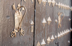 Ancient door detail. Carmona, Seville, Spain. Ancient door detail. Carmona, Seville Royalty Free Stock Image