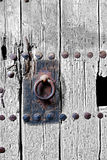 Ancient door detail Royalty Free Stock Photography
