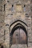 Ancient Door of Eilean Donan Castle in Scotland. Royalty Free Stock Photos
