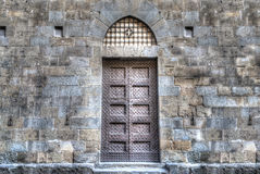Ancient door in Florence stock image