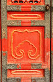 Ancient door in Forbidden City, Beijing, China Stock Image