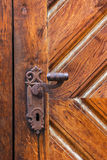 Ancient door handle. Royalty Free Stock Images