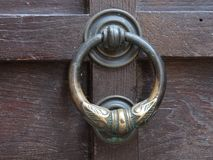 Ancient door handle Royalty Free Stock Photography