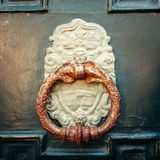 Ancient Door Handle with Angel Royalty Free Stock Images