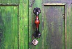Ancient door handle in Tbilisi, Georgia stock photos