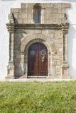 Ancient door of hermitage Stock Photos
