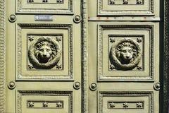 Ancient door in the house in St. Petersburg Stock Photo