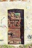 Ancient Door In A Village Royalty Free Stock Photos