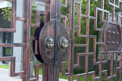 Ancient door knob. In china royalty free stock images