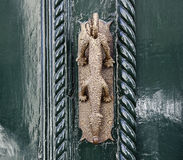Ancient door knocker Royalty Free Stock Image