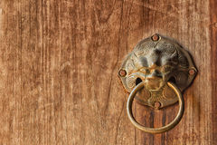 Ancient door knocker, Door knob handle Stock Images
