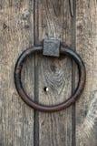 Ancient door knocker ring Royalty Free Stock Photography