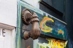 Ancient door knocker Royalty Free Stock Photo