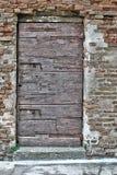 Ancient door locked Stock Images
