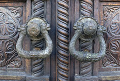 Ancient door locks Royalty Free Stock Photos