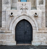Ancient door of Matthias church Royalty Free Stock Photos