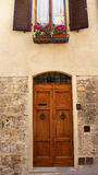 Ancient Door Medieval Town San Gimignano Italy Stock Image