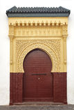 Ancient door Moorish style Royalty Free Stock Photography