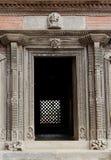 Ancient door in Nasal Chowk Courtyard of Hanuman Dhoka Durbar Royalty Free Stock Images