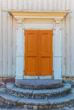 Ancient door of an old Swedish farmhouse Stock Photography