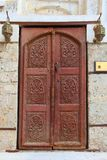 Ancient door in old town of Jeddah Balad.Traditional balad beautiful little town in Jedah region royalty free stock photography