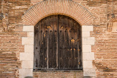 Ancient door. One of the gates of the Coca Castle Stock Photo