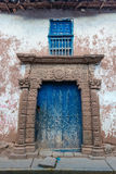 Ancient door peruvian Andes  Moray in Cuzco Peru Stock Images