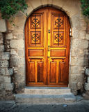 Ancient door in Rhodes island Stock Image