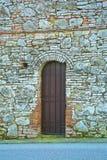 Ancient door Roman medieval time Royalty Free Stock Photos