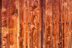 Ancient door with rusty nails Royalty Free Stock Photography