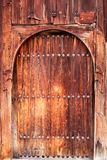 Ancient door with rusty nails Royalty Free Stock Image