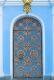 Ancient door to the Christian church. Architecture Royalty Free Stock Image