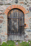 Old door in the castle Royalty Free Stock Images