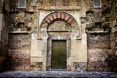 Ancient Door to the Mezquita in Cordoba Stock Photos