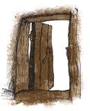 Ancient door (vector) Royalty Free Stock Photo